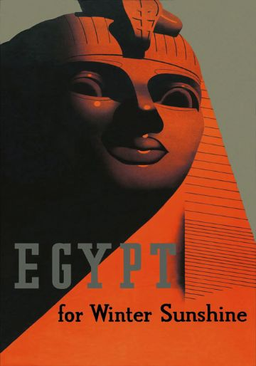 Vintage Travel Poster Winter Sunshine Egypt